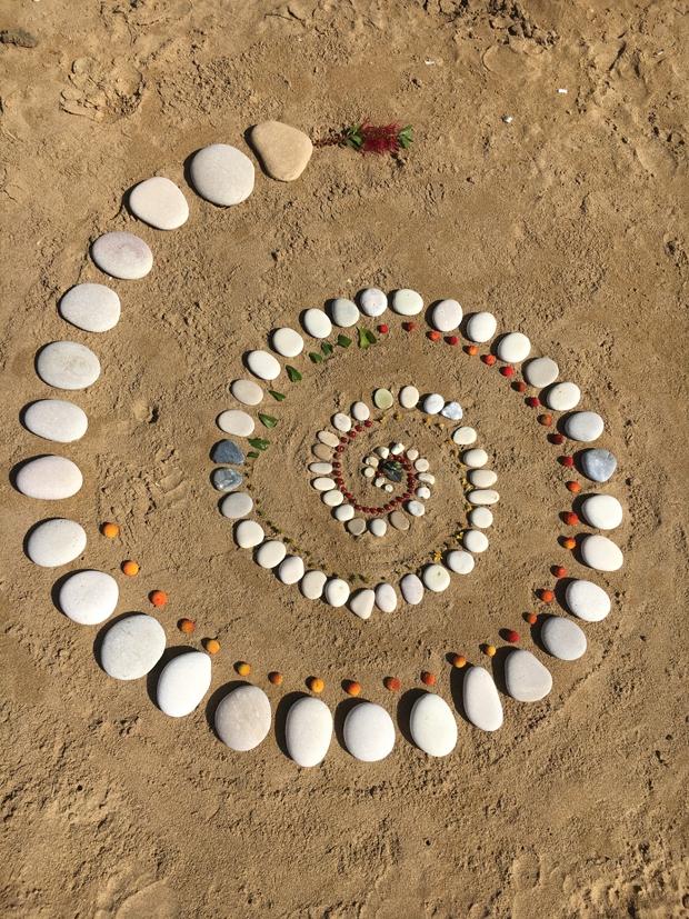 Strandkunst - Spirale
