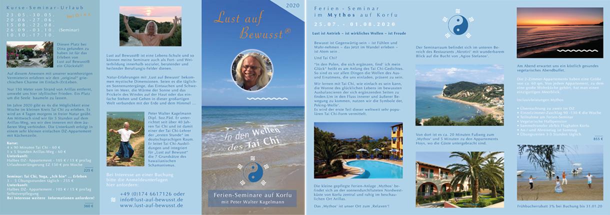flyer - Lust auf Bewusst - Ferien-Seminare mit Peter Walter Kagelmann